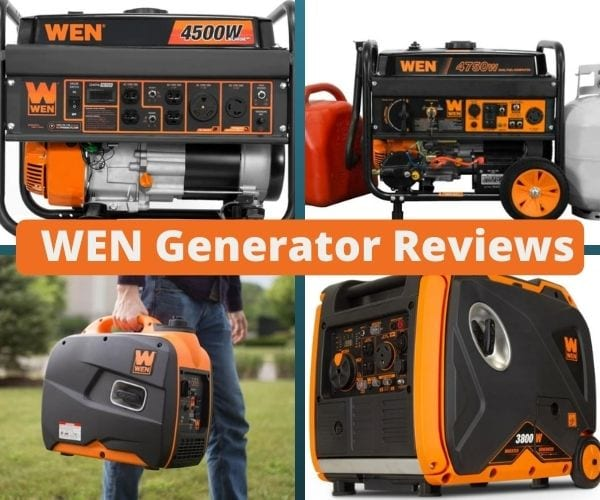 wen generator reviews collage