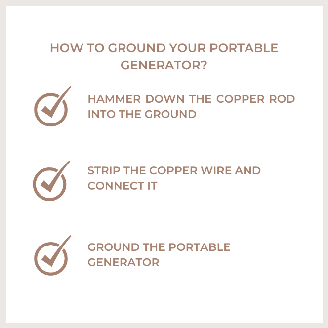how to ground your portable generator