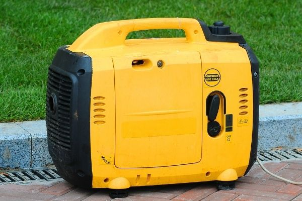 portable generator outside